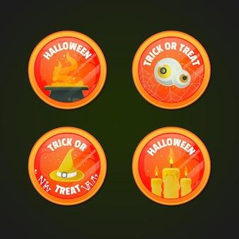 Odznaki festiwalu halloween