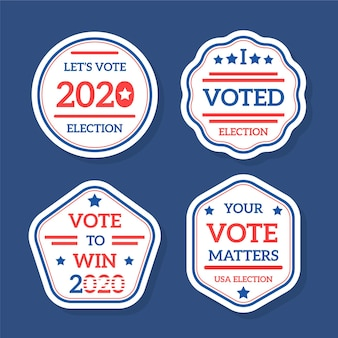 Odznaki i naklejki do głosowania w wyborach prezydenckich w usa w 2020 r