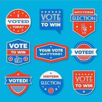 Odznaki i naklejki do głosowania