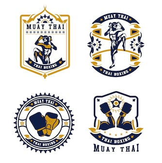 Odznaki klubu Kickboxing