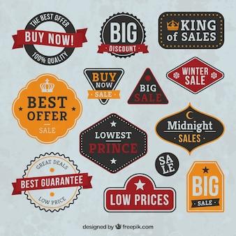 Odznaki kolekcji vintage sprzedaż