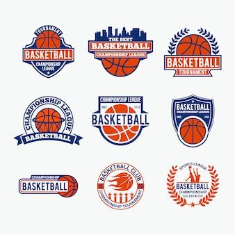 Odznaki koszykówka logo i naklejki