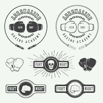 Odznaki logo boksu