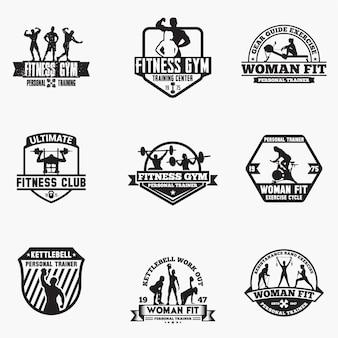 Odznaki logo fitness