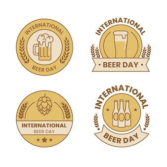 Odznaki międzynarodowego dnia piwa
