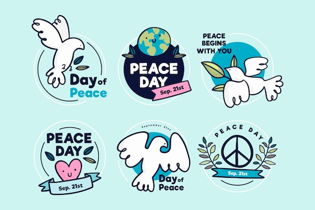 Odznaki międzynarodowego dnia pokoju