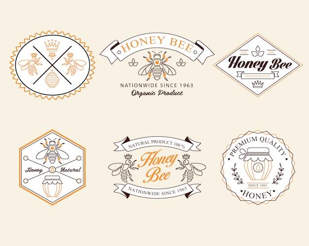 Odznaki miodu i pszczoły, etykiety