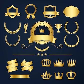 Odznaki odznaczeń najwyższej jakości i banery
