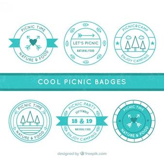 Odznaki piknikowe turquoise
