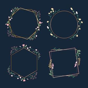 Odznaki ramki kwiatu