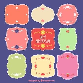 Odznaki rocznicowe ozdobne