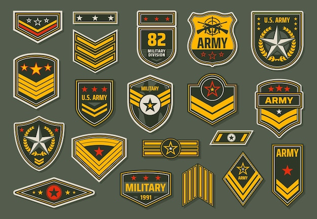 Odznaki sił zbrojnych usa, insygnia stopni personelu wojskowego