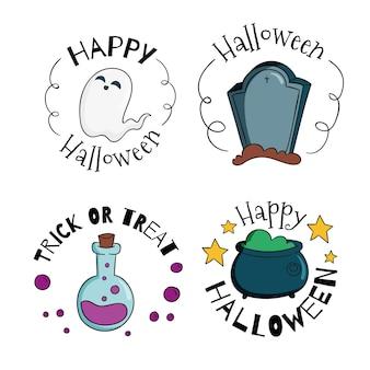 Odznaki sprzedaży festiwalu halloween