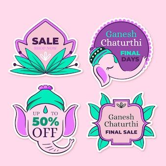 Odznaki sprzedaży ganesh chaturthi