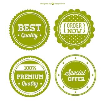 Odznaki sprzedaży premium zielone