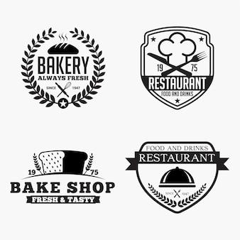 Odznaki z logo piekarni restauracji