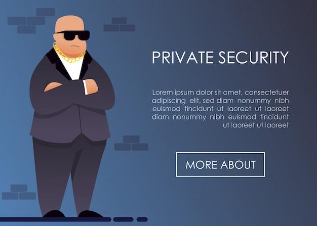 Oferowanie prywatnej służby bezpieczeństwa na stronie docelowej