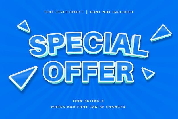 Oferta specjalna edytowalny efekt tekstowy
