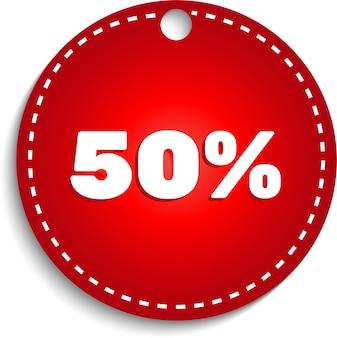Oferta specjalna sprzedaż czerwony znacznik na białym tle wektor rabat oferta cena symbol