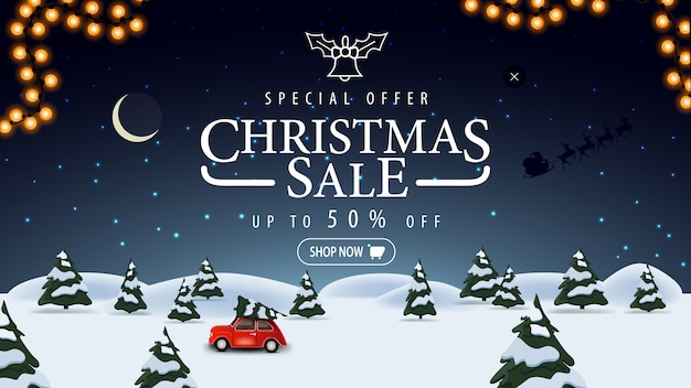 Oferta specjalna, wyprzedaż świąteczna, do 50% zniżki
