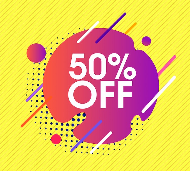 Oferta sprzedaży banner 50% zniżki