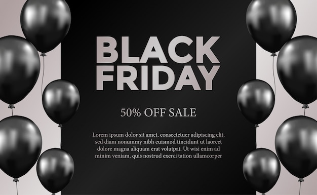 Oferta sprzedaży czarny piątek szablonu