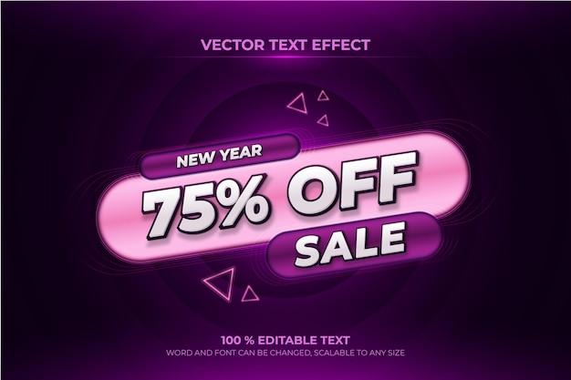Oferta sprzedaży edytowalny efekt tekstowy 3d z fioletowym stylem backround