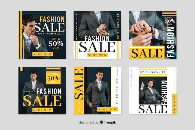 Oferty kolekcji promocyjnych na instagramie