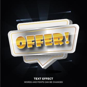 Oferuj efekt tekstu 3d do promocji zakupów