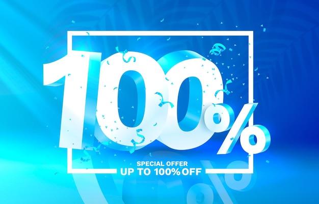 Off rabat kreatywny skład d symbol sprzedaży z dekoracyjnymi przedmiotami sprzedaż baner i plakat