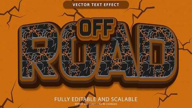 Off road efekt tekstowy edytowalny plik eps