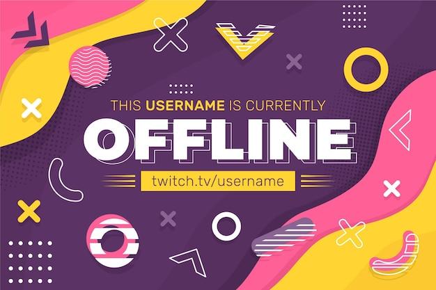 Offline banery twitch