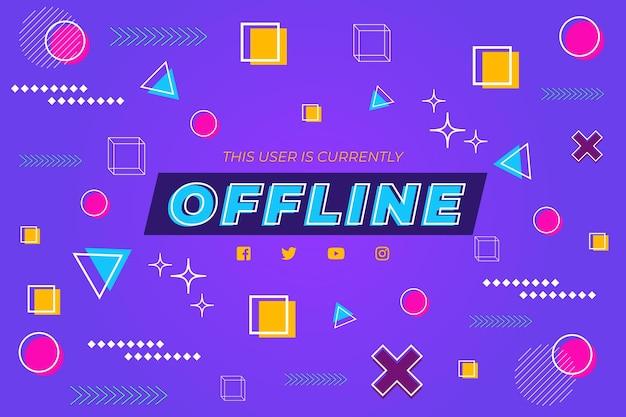Offline twitch banner memphis design