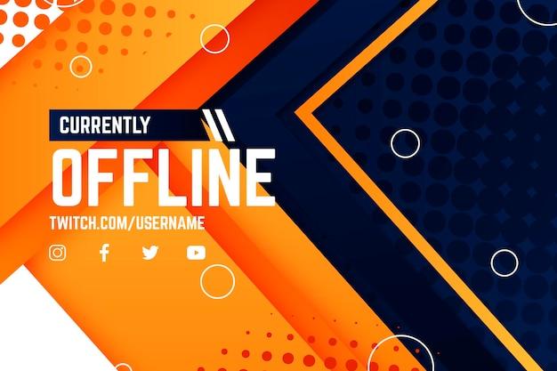 Offline twitch banner w stylu gammer