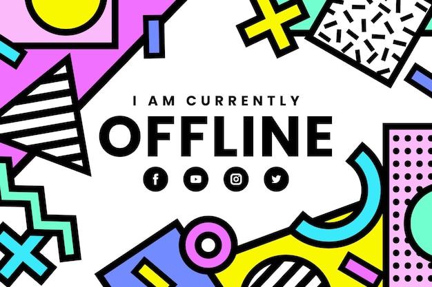 Offline twitch banner w stylu memphis