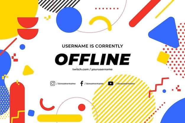 Offline twitch banner