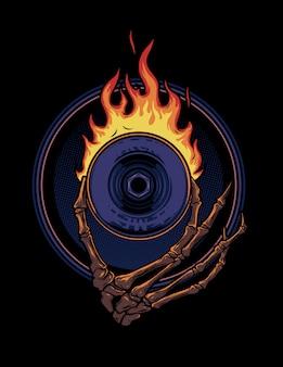Ogień koła