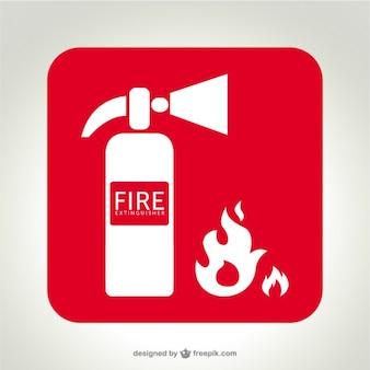 Ogień logo wektor gaśnica