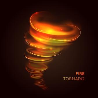 Ogień tornado tło