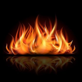 Ogień w ciemności.