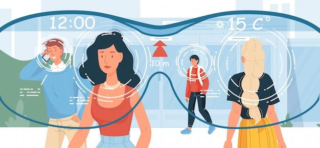 Oglądaj ludzi za pomocą inteligentnego urządzenia do noszenia