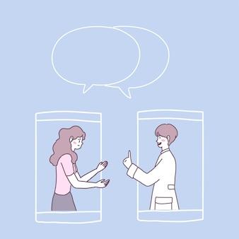 Oglądaj rozmowy wideo lub prowadź rozmowy wideo od lekarzy na swoim smartfonie.