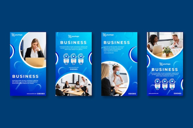 Ogólne historie biznesowe na instagramie