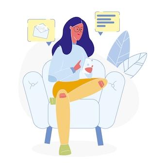 Ogólnospołecznych sieci użytkownika płaska wektorowa ilustracja