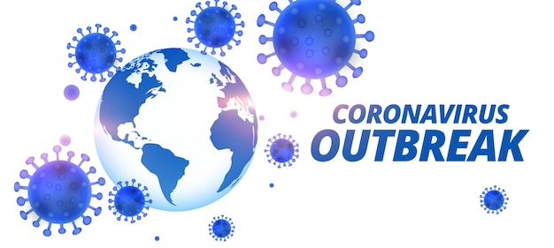 Ogólnoświatowy projekt transparentu wirusa pandemii koronawirusa covid-19