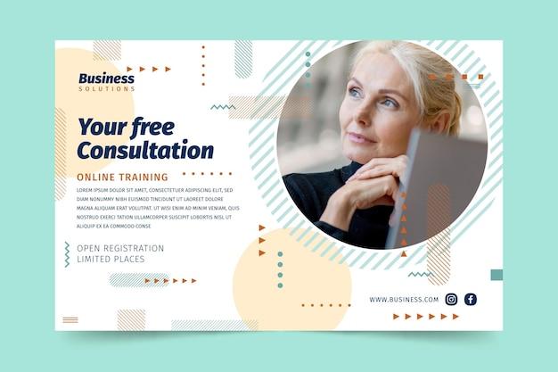 Ogólny baner bezpłatnych konsultacji biznesowych