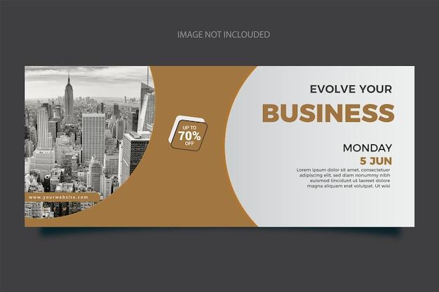 Ogólny nowy szablon poziomego banera biznesowego