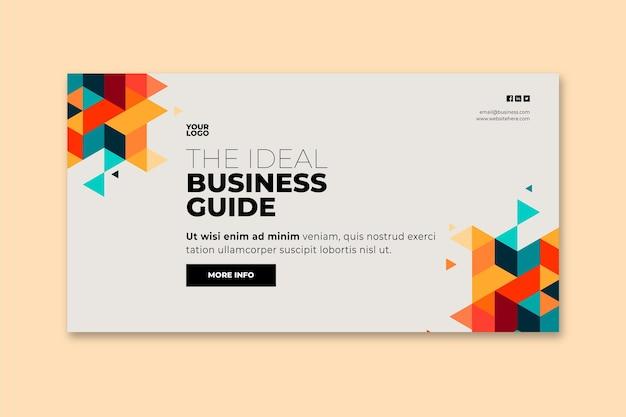 Ogólny szablon transparent biznesowy
