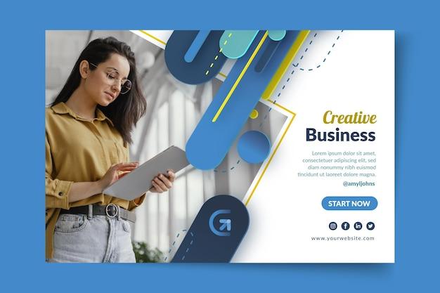Ogólny szablon transparentu biznesowego