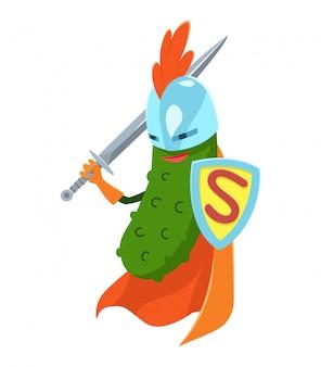 Ogórek superhero